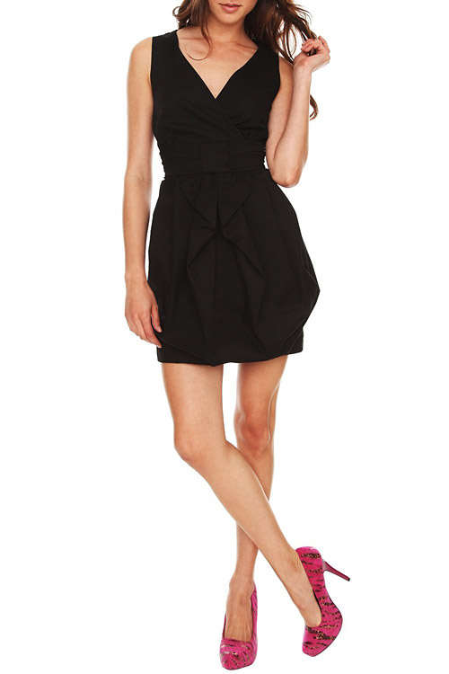 Black Bubble Dress Black Ruffle Bubble Dress
