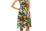 Jax Womens Printed Chiffon Dress