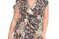 Torrid Plus Size Animal Dress with Beaded Belt