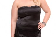 Torrid Plus Size Black Bandage Tube Dress