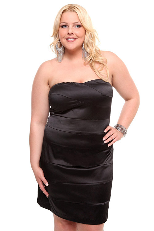 Torrid Plus Size Black Bandage Dress