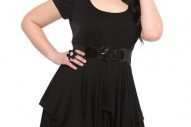 Torrid Plus Size Black Knit Pickup Dress