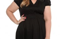 Torrid Plus Size Black Shirt Dress with Lace Trim
