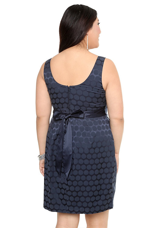 138dced291ead Torrid Plus Size Blue Jacquard Dot Pocket Dress