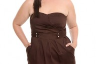 Torrid Plus Size Brown Button Pocket Tube Dress