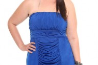 Torrid Plus Size Cobalt Blue Ruched Tube Club Dress