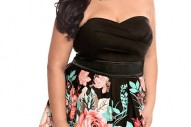 Torrid Plus Size Floral Border Party Tube Dress