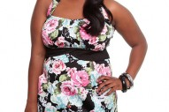Torrid Plus Size Floral Halter Pocket Dress