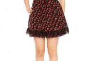Tripp Cherries Chiffon Ruffle Dress