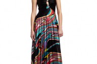 Xoxo Juniors Printed Pleated Maxi Dress